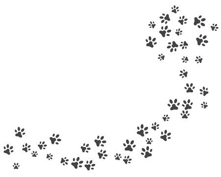 Paw pictogram vector illustratie logo ontwerpsjabloon
