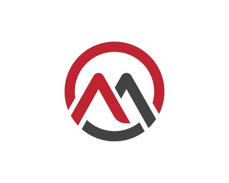 Lettera M Modello Logo illustrazione vettoriale design
