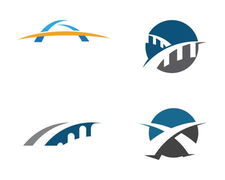 Bridge Logo Template vector pictogram illustratie ontwerp