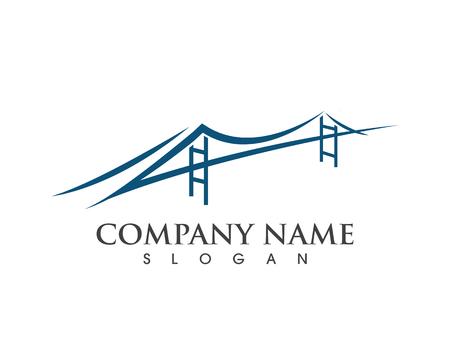 Diseño de ilustración de icono de vector de plantilla de logotipo de puente Logos