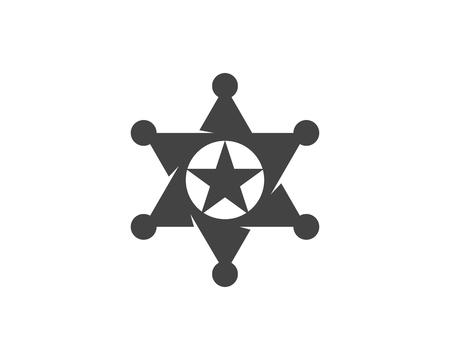 star sherif vector icon illustration design template