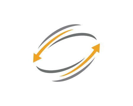 Arrow vector illustration icon Logo Template design Archivio Fotografico - 106484485