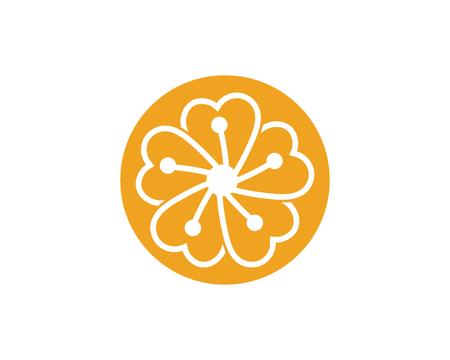 Beauty plumeria icon flowers design illustration Template Stock Vector - 106537960