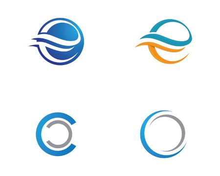 Water wave icon vector illustration design logo Vettoriali