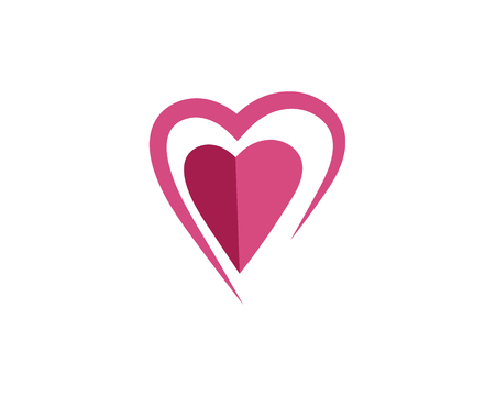 Beauty Love Vector icon illustration design Template Stock Illustratie