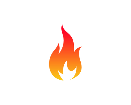 Fire flame vector illustration design template Banque d'images - 106724873