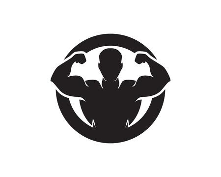 Objeto vectorial e iconos para etiqueta deportiva, insignia de gimnasio, diseño de logotipo de fitness Logos