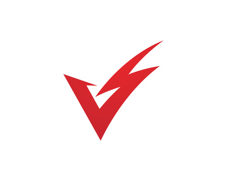 V Letter Lightning Logo Template vector icon illustration design