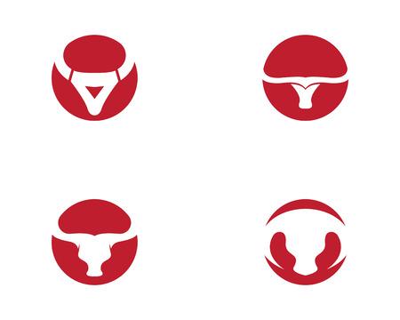 Stier-Logo-Schablonen-Vektorikonen-Illustrationsentwurf