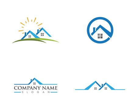 Real Estate , Property and Construction Logo design 向量圖像