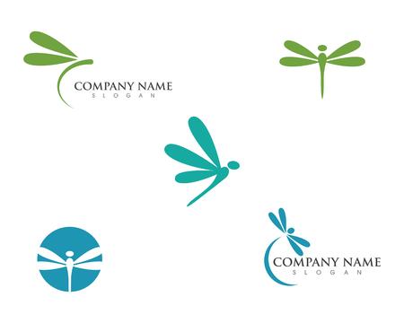 Modèle de conception icône illustration libellule vecteur