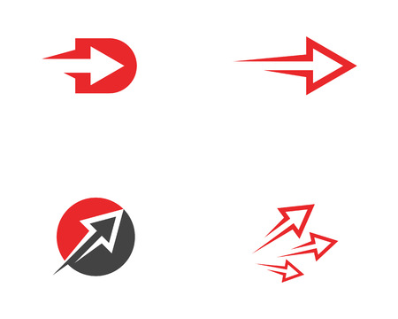 Arrow vector illustration icon Logo Template design