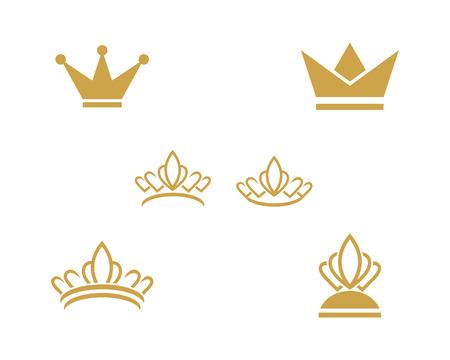 Modèle de logo de couronne conception d'icône vector illustration
