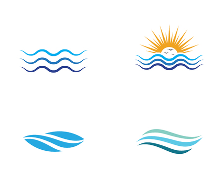 Water wave icon vector illustration design logo 向量圖像