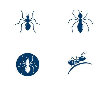 Ant Logo template vector illustration design Banque d'images - 132260954