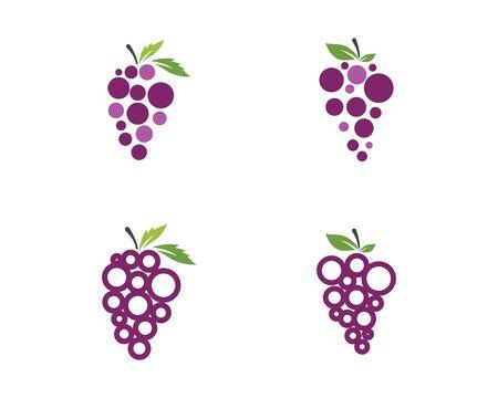 Raisins logo modèle vecteur icône illustration design