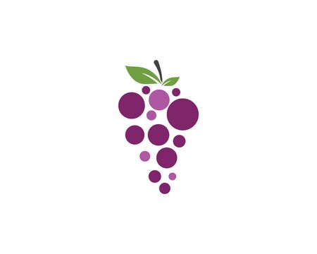 Grapes logo template vector icon illustration design