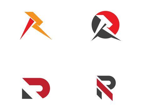 R Letter Arrow vector illustration icon Logo Template design