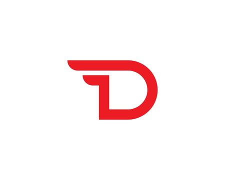D Letter Template vector icon design