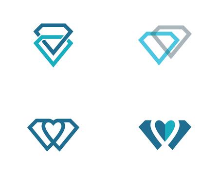 Diamond Template vector icon illustration design
