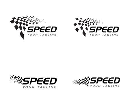 Rennflaggensymbol, einfaches Design-Illustrationsvektor