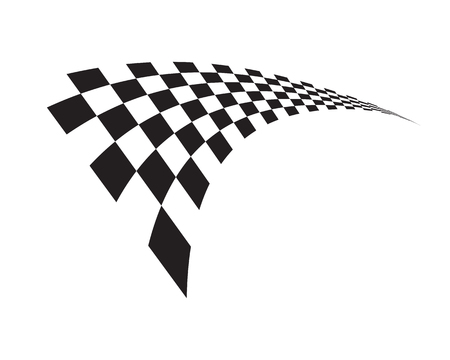 Rennflaggensymbol, einfaches Design-Illustrationsvektor Vektorgrafik
