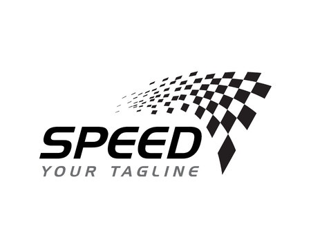 Race flag icon, simple design illustration vector  イラスト・ベクター素材