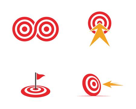 Target icon vector illustration design template