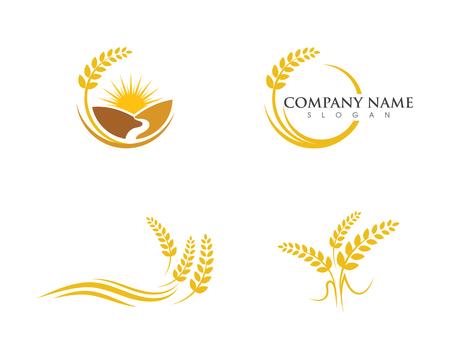 Rolnictwo pszenicy wektor ikona designu