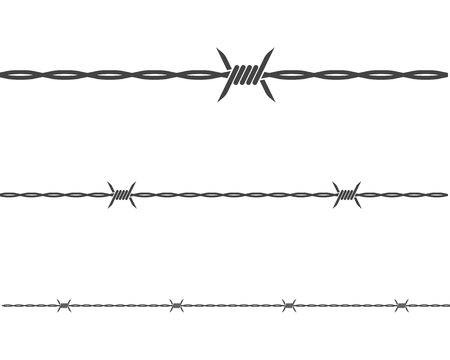 barbed wire vector illustration design
