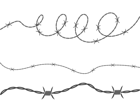 barbed wire vector illustration design