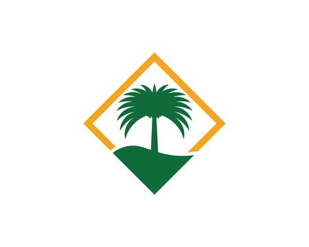 Modello di logo dell'illustrazione di vettore dell'icona dell'albero della data Logo