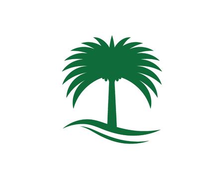 Date tree icon vector illustration logo template Stock fotó - 118493094