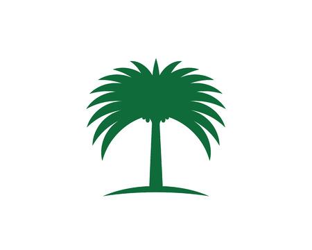 Modello di logo dell'illustrazione di vettore dell'icona dell'albero della data