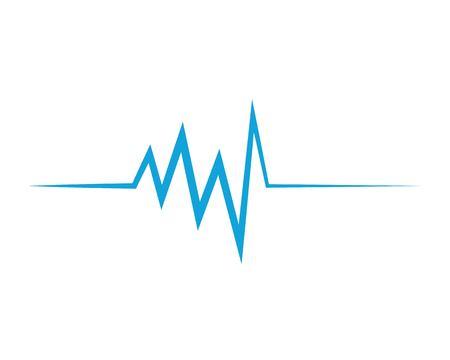Health medical heartbeat pulse icon illustration