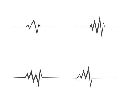 Illustrazione medica dell'icona di impulso del battito cardiaco di salute