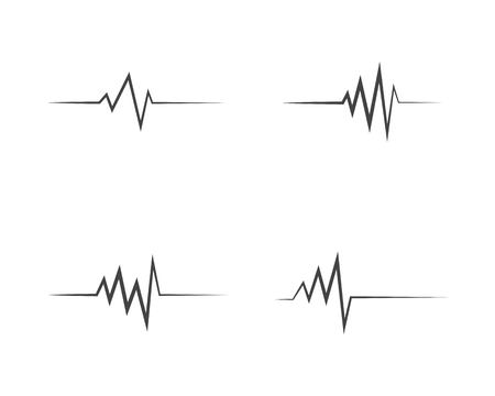 Health medical heartbeat pulse icon illustration