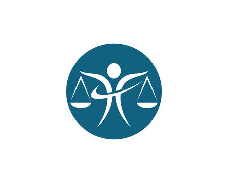 Lawyer logo template vector icon illustration design