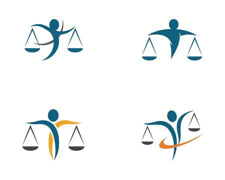 Lawyer logo template vector icon illustration design Logo