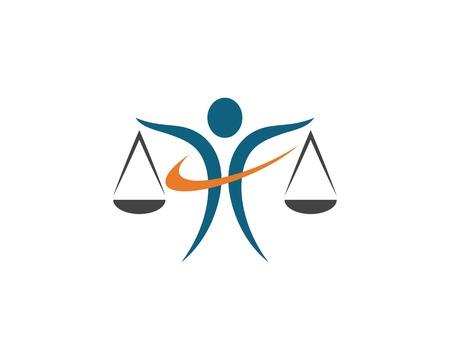 Lawyer logo template vector icon illustration design