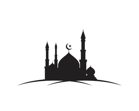 Mosque Moslem icon vector Illustration design template Ilustrace