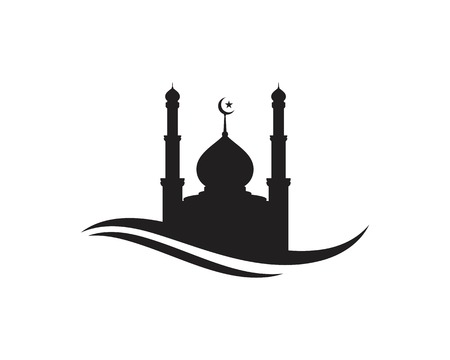 Mosque Moslem icon vector Illustration design template Иллюстрация