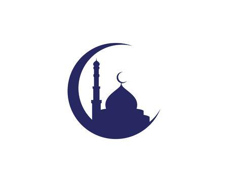 Moschee Moslem Symbol Vektor Illustration Design Template Vektorgrafik