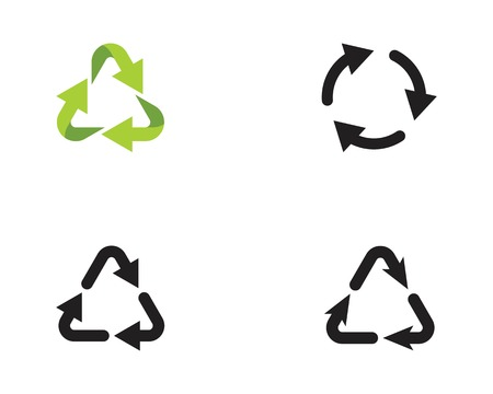recycle icons vector illustration design template