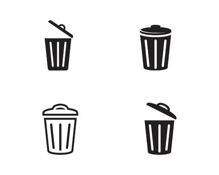 trash icons vector illustration design template