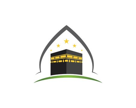 kaaba vector illustration icon design template