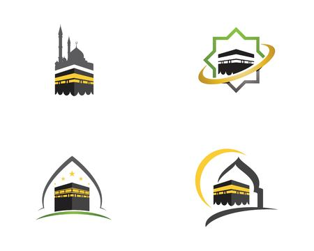kaaba vector illustration icon design template Stock Illustratie