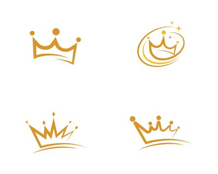 Crown Logo Template vector icon illustration design Reklamní fotografie - 122289536