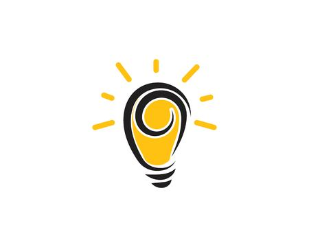 light bulb symbol vector design illustration Ilustração