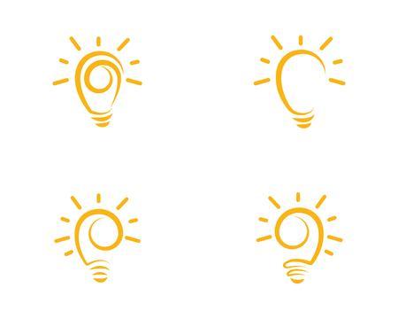 light bulb symbol vector design illustration Ilustracja